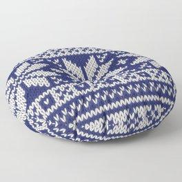 Winter knitted pattern 2 Floor Pillow