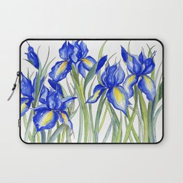 Blue Iris, Illustration Laptop Sleeve