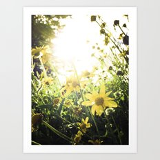LUV IN THE SUN Art Print