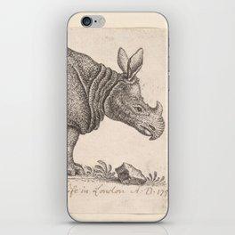 Vintage Rhino iPhone Skin