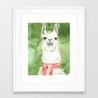 llama Framed Art Prints featuring Llama by Susan Windsor