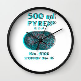 Pyrex graphic design Wall Clock