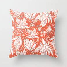 Magnolia Shower Throw Pillow