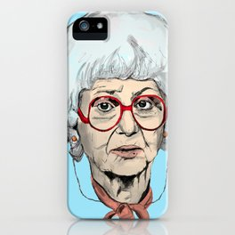 Sophia Petrillo from The Golden Girls (Blue) iPhone Case