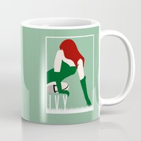 poison ivy Mugs featuring Poison Ivy by Rizwanb