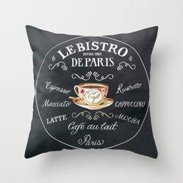 Cafe De Paris Throw Pillow
