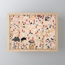 Cats suggested as The Fifty-three Stations of the Tōkaidō Framed Mini Art Print