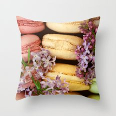 Pretty Macaroons Throw Pillow