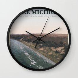 Visit Lake Michigan Wall Clock