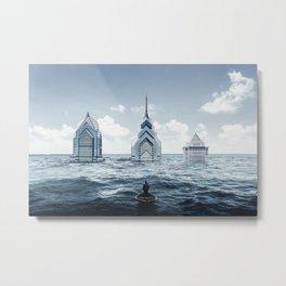 Flooded City Metal Print