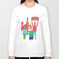 happy birthday Long Sleeve T-shirts featuring Happy Birthday! by Elga Libano