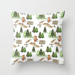 Jersey Devil Welcomes You to the Pine Barrens! Throw Pillow