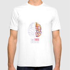 I am thinking Creative Mens Fitted Tee White MEDIUM