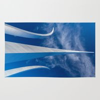 spires Area & Throw Rugs featuring Steel Spires Toward Heaven by Kevin Sutherland