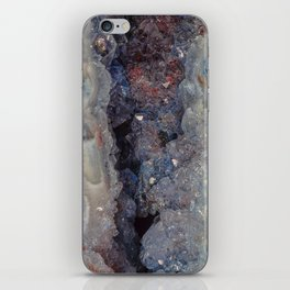 Small blue crystal Cave Geode iPhone Skin