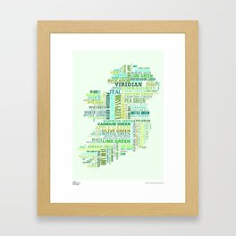 Forty Shades of Green Framed Art Print