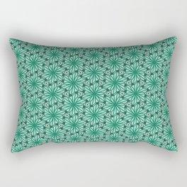 Geometry Teal Angular Geometric Floral Turquoise Green Cool Mint Green Radial Design Spirit Organic Rectangular Pillow