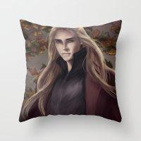 thranduil Throw Pillows featuring Thranduil by Hanna Nordin
