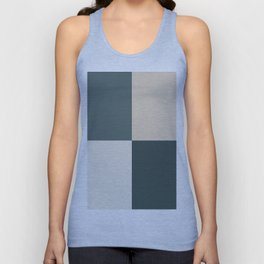 4 Quarters Green & Beige Blocks Inspired by PPG Glidden Colors of 2019 Night Watch and Accent Color Unisex Tank Top