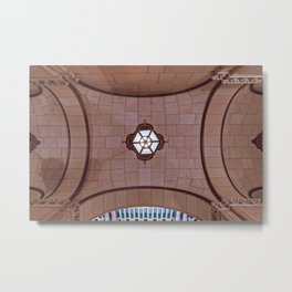 Architectural Abstract of a domed ceiling of moorish influence. Metal Print