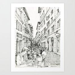 Via S. Lorenzo, Genova Art Print