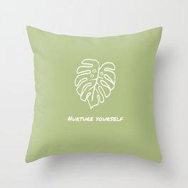 Nurture Yourself Throw Pillow