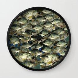 Crappie Camo Wall Clock
