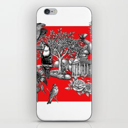 Collage rouge 5 iPhone Skin