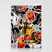 saga Stationery Cards featuring Halloween Spooky Cartoon Saga by BluedarkArt