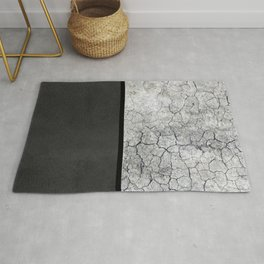 Rock the Casbah // concrete and paint colorblock collage Rug