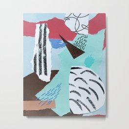 pastels paper collage Metal Print