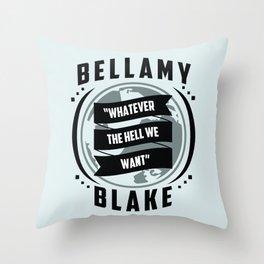 The 100, Bellamy Blake Throw Pillow
