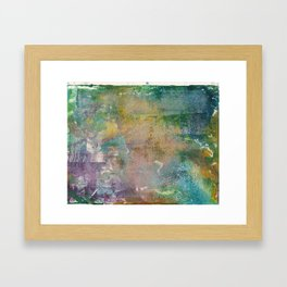 Abstract Y (Monoprint) Framed Art Print