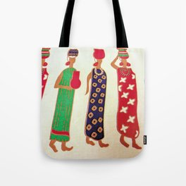 African Ladies in Colorful Dresses Tote Bag