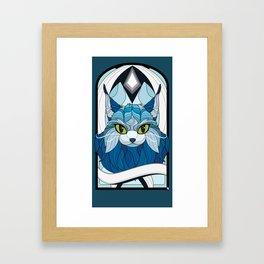 Millianne Stained Glass Framed Art Print