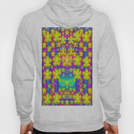 Outside the curtain it is peace florals and love Hoody