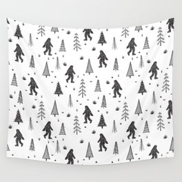 trees + yeti pattern Wall Tapestry