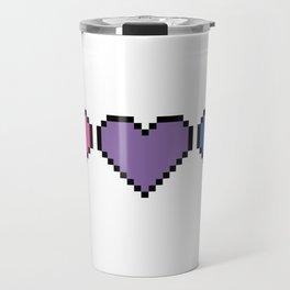 Bisexual Pixel Heart Travel Mug
