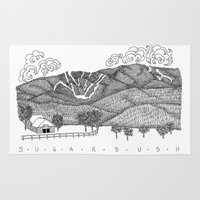 vermont Area & Throw Rugs featuring Zentangle Sugarbush, Vermont by Vermont Greetings