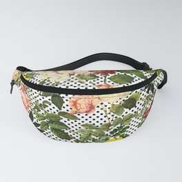 Points and Flowers Pattern Fanny Pack