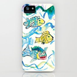 Funny fishes iPhone Case