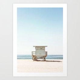 Lifeguard on Beach Art Print