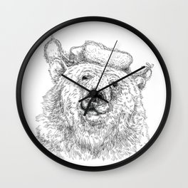 russian bear Wall Clock