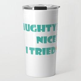 Christmas Evil Naughty Cheeky Kids List Joke Gift Travel Mug