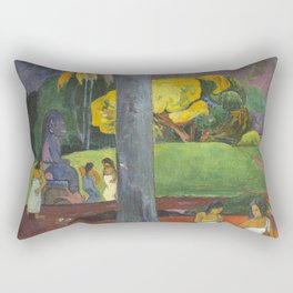 Mata Mua by Paul Gauguin Rectangular Pillow