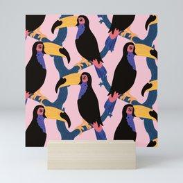 If TouCan YouCan- Toucan pattern Mini Art Print