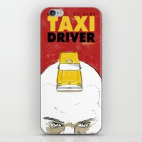 taxi driver iPhone & iPod Skins featuring Taxi Driver by Matthew Bartlett