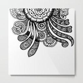 Mandala And Swirls Metal Print