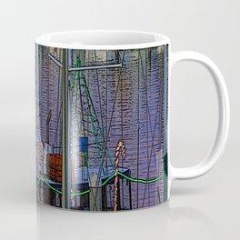 Christmas Boats In Harbor Coffee Mug