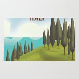 Lake Como Italy travel poster Rug